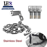 Rarelock Chain Lock 120cm Resistance of 12 Tons Hydraulic Pliers for Gate Bike Motorcycle Car Bag Store Door
