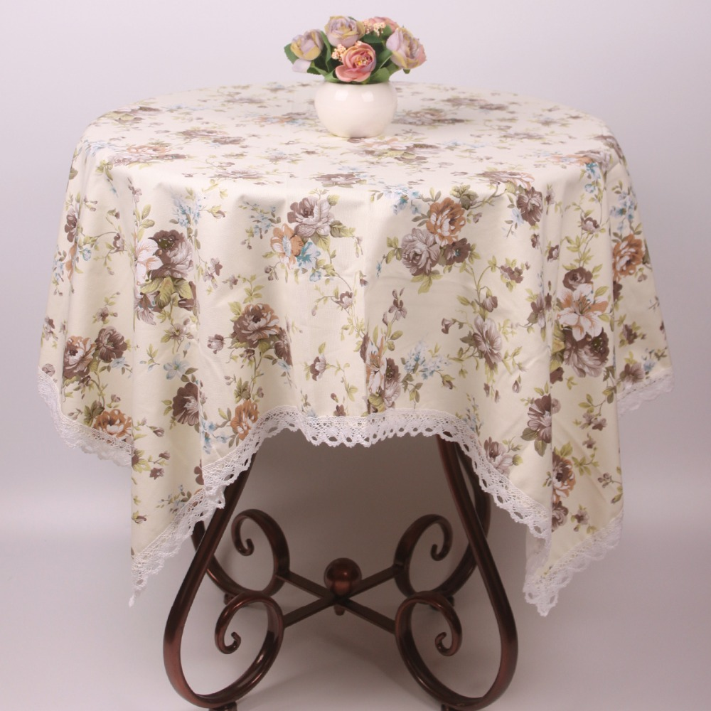 Light Yellow Cotton Vintage Tablecloth / Decorative Rosa Multiflora  Countryside Leisure Tea Table Covers Cloth In Tablecloths From Home U0026  Garden On ...