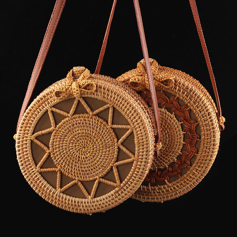 Vintage Handmade Rattan Round Straw Bags Women Summer Rattan Bag Handmade Woven Beach Cross Body Bag Circle Bohemia Handbag BaliVintage Handmade Rattan Round Straw Bags Women Summer Rattan Bag Handmade Woven Beach Cross Body Bag Circle Bohemia Handbag Bali