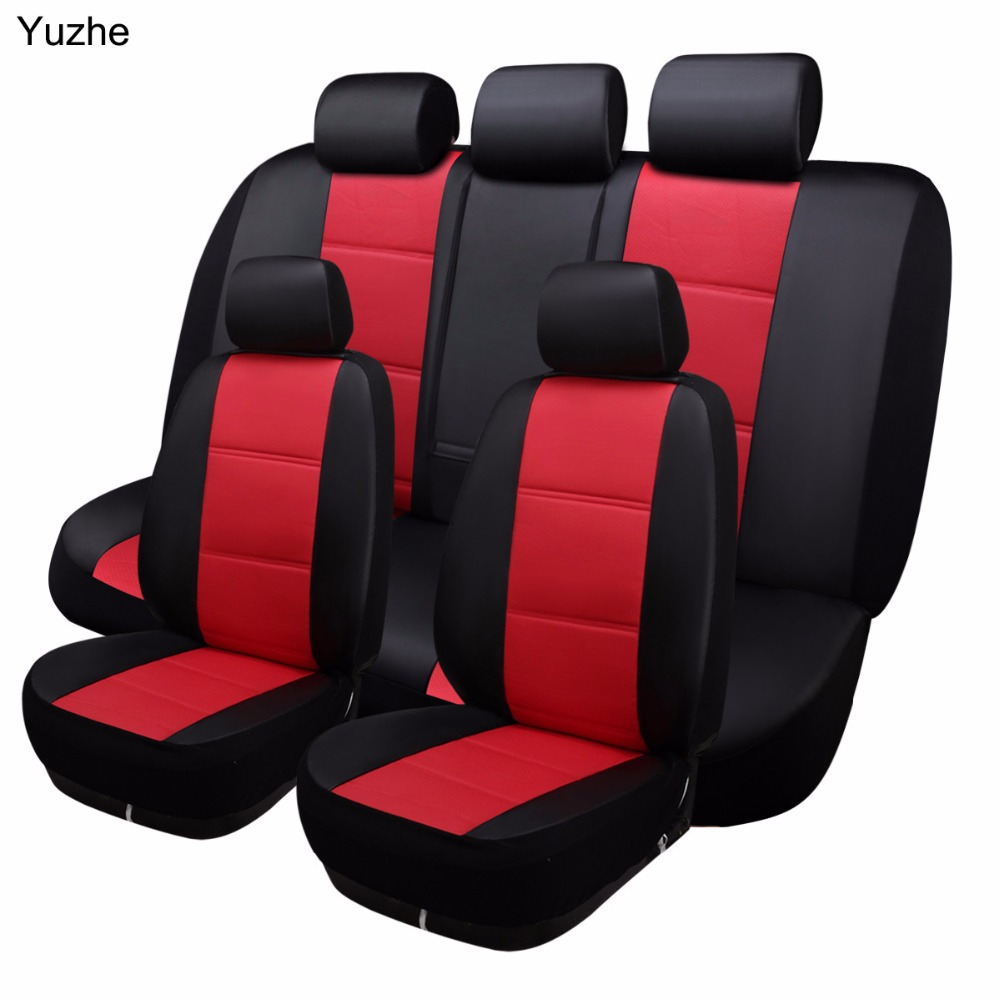 Yuzhe Universal auto Leather Car seat cover For peugeot 205 307 206 308 407 207 406 408 301 automobiles accessories seat cover цена
