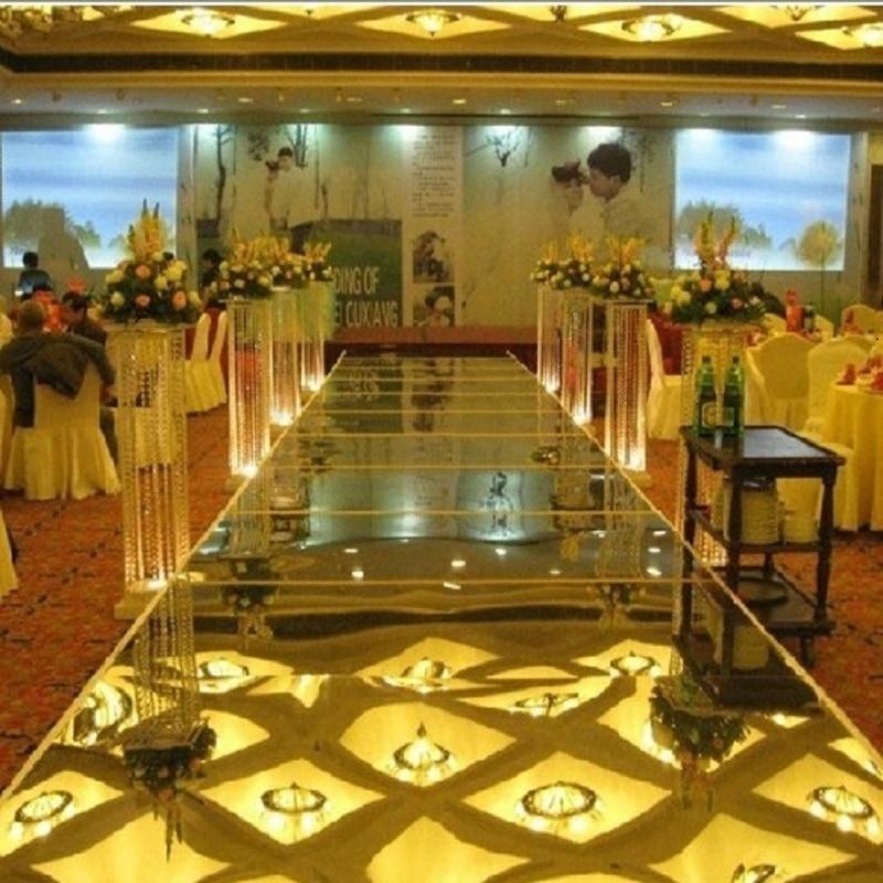 웨딩 장식 -10 미터 lbright 양면은 결혼식 용 거울 카펫, 웨딩 카펫 러너, 너비 100cm