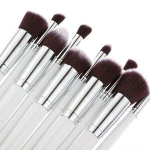 Image 5 - Nieuwe Komen 10 stks Synthetische Kabuki Make Up Borstel Set Cosmetics Foundation mengen blush make up tool