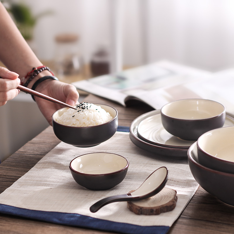 Bowl Household Bowl Ceramic Japanese Style Tableware Rice