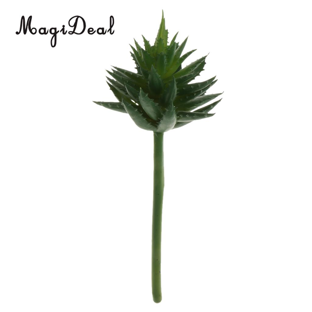 MagiDeal Artificial Succulent Real Touch Lotus Foliage Plant Garden Decor 24cm Green