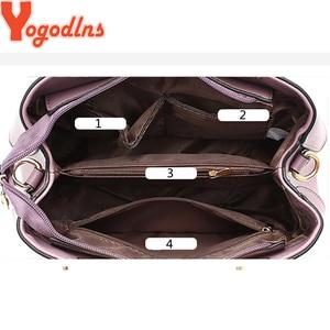 Image 5 - Yogodlns 2020 Fashion Handbags Women Messenger Bag Female PU Leather Shoulder Bag Womens Embroidery Flower Handbag sac a main