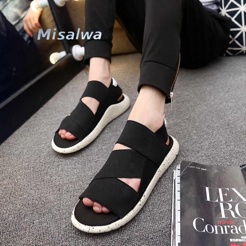a3dc26fd76a4 Misalwa Unisex Summer Shoe Sandal for Men Handmade Lighted Casual Shoes  2019 Roman Hemp Purple Black
