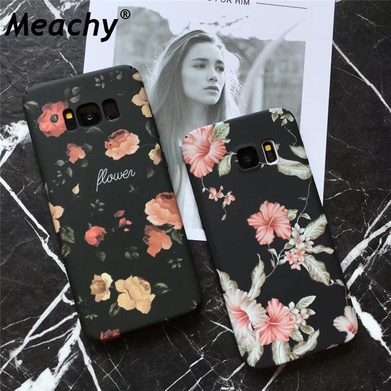 Meachy Full Cover Matte Case For Samsung Galaxy S7 Edge S8 S9 Plus Note 8 Hard Plastic Case Coque For Galaxy S7Edge S8Plus R83