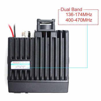 Mini Mobile Radio BAOJIE BJ-218 25W Output Power Dual Band 136-174 & 400-470MHz FM Radio BJ218 Walkie Talkie