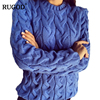 Solid Women Sweaters And Pullovers Loose Knitted Pullover Female Tops Autumn Winter Long Sleeve Jumper Sweater