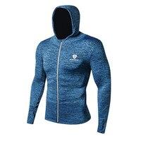 Kurtki Mężczyzn Crossfit Fitness Odzież Workout Zima Wiosna Zamek Płaszcz Z Długim Rękawem Szybkie Suche Pochłaniające Slim Fit Kurtka Topy