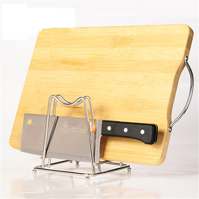 Storage Rack Creative stainless steel lid chopping block storage rack An indispensable tool for the kitchen12*13cm 328G H-39