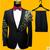 Lo nuevo S-4XL de Los Hombres Trajes de Lentejuelas de Pavo Real Patrón de La Moda Delgado Negro Azul Bordado Paillette Cantante Masculino TRAJES de Fiesta CONJUNTO