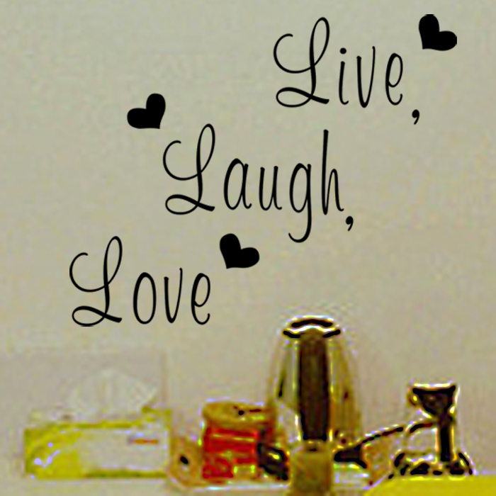 Live laugh love Inspirational quote vinyl wall sticker