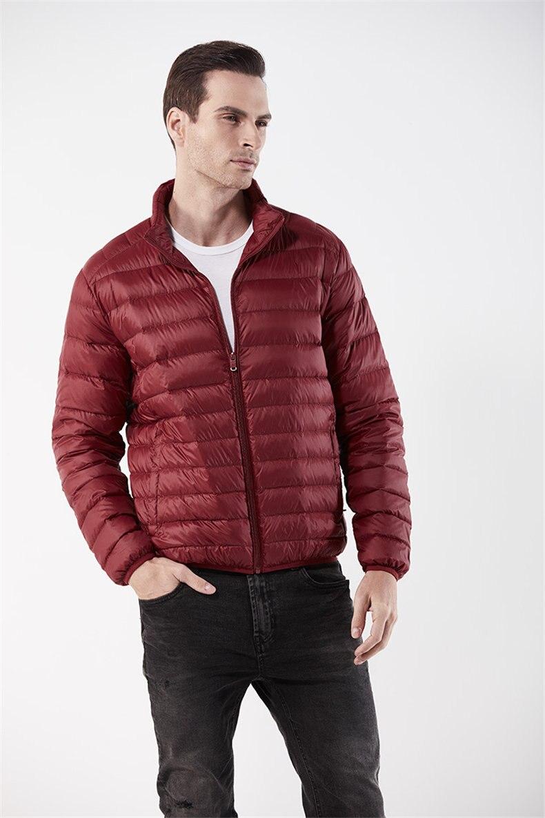 Customized White Duck Down Jacket Men Winter Ultralight Light Male Parka Coats Man Brand Clothing Water Resistant Outwear Autumn8
