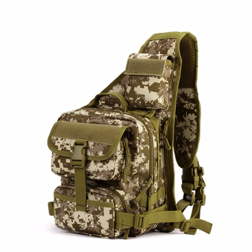 Molle Outdoor One Shoulder Military Tactical Backpack Camping Climbing Travel Hiking Trekking Hiking Sport Bag Backpack