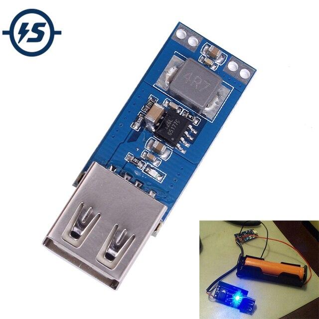 כוח בנק Boost ממיר מטען מודול DC DC 2.5 V 5.5 V כדי 5V 2A שלב עד לוח USB רכב נייד