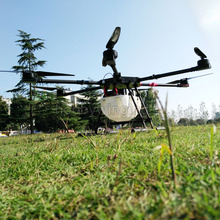 Pompa Semprot Pertanian 6-axis drone w/15 KG/penyemprotan sistem gimbal 1550mm Wheelbase 15L Lipat Hexacopter UAV