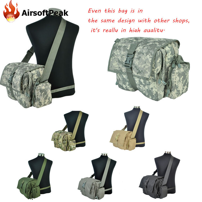 ФОТО Airsoft Hunting Messenger Bag Military Sport Army Waterproof Nylon 1000D Tactical Battle Low-Pitched Shoulder Waist Bags