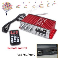DC 12V Audio Stereo Power Amplifier USB FM SD MP3 Player Remote Control 2CH Output Power