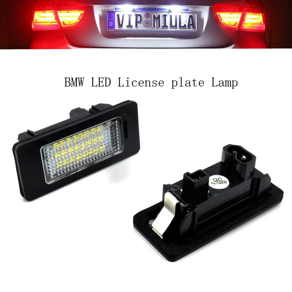 2pcs Led Number Plate For Bmw Number License Plate Light Lamp For Bmw E39 E81 E82 X5 X1 E60 E90 E92 E93 Super Bright image