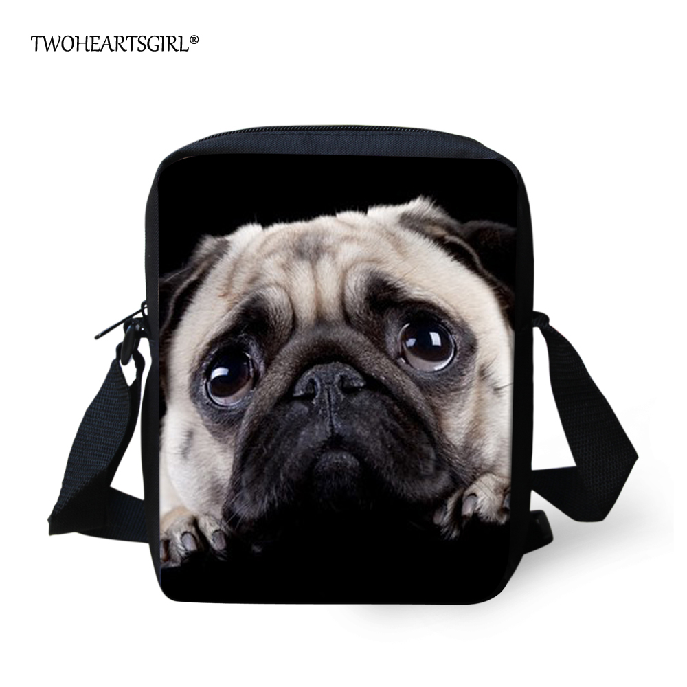 Twoheartsgirl Cute Puppy Pug Dog School Bag for Kids Small Kindergarten Baby Schoolbag Mini Children Girls Bookbags Mochila