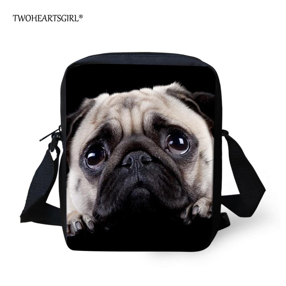 Twoheartsgirl Cute Puppy Pug Dog School Bag for Kids Small Kindergarten Baby Schoolbag M ...
