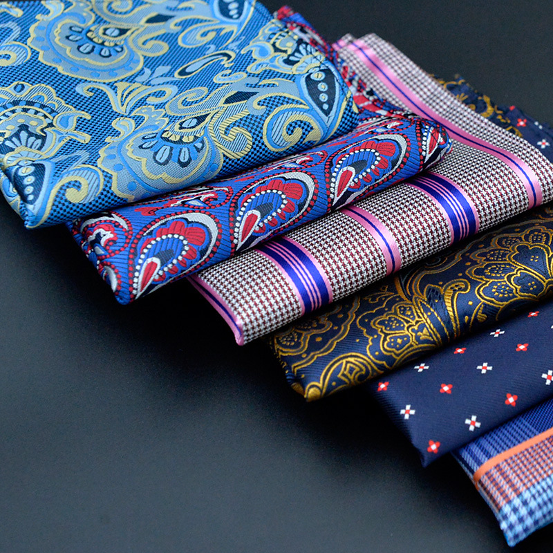 (1 pieceslot) 100% Polyester 20 Types Men's Pocket Square Upscale Polyester Fashion Handkerchief