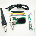 Upgraded Version STM32 OLED T12 Controller DIY Kits Soldering Handle Set GX12 Plug For Hakko T12 Solder Soldering Iron Tips