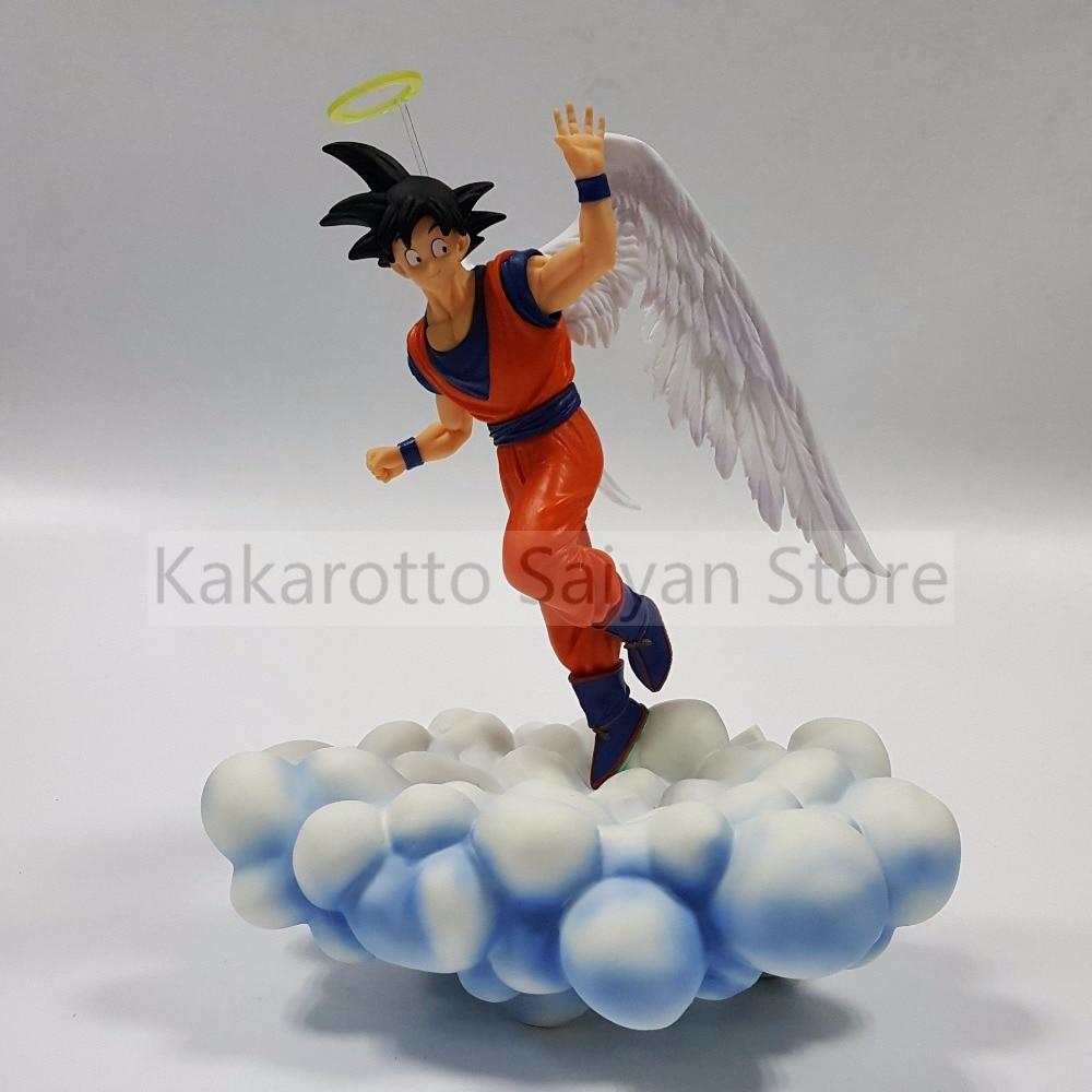 Anime Dragon Ball Z Angel Goku Super Saiyan PVC Action Figure Dragon Ball Z Figurine Son Goku with Cloud DBZ Diorama Toy Gift figurine