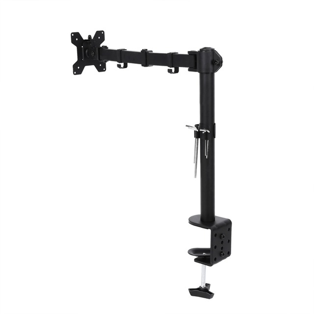 13 27 Inch 360 Degree Swivel Single Monitor Arm Tv Bracket Lcd Led Desk Mount