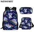 Рюкзак INSTANTARTS для мальчиков и девочек  школьный рюкзак с принтом коала для детей