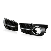 2016 One Pair Black Front Grille Car Grilles For Audi A4 B8 2008 2011 Car Fog
