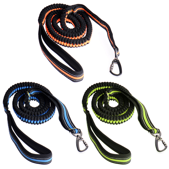 Hands Free Dog Leash For Running Walking Hiking Elastic Bungee Dog Leash With Adjustable Waist Belt 3 Color