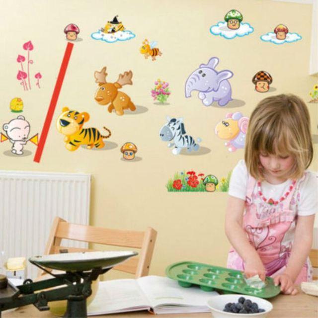 New Kids Room Nursery Running Animal Deer Wall Stickers Home decor ...