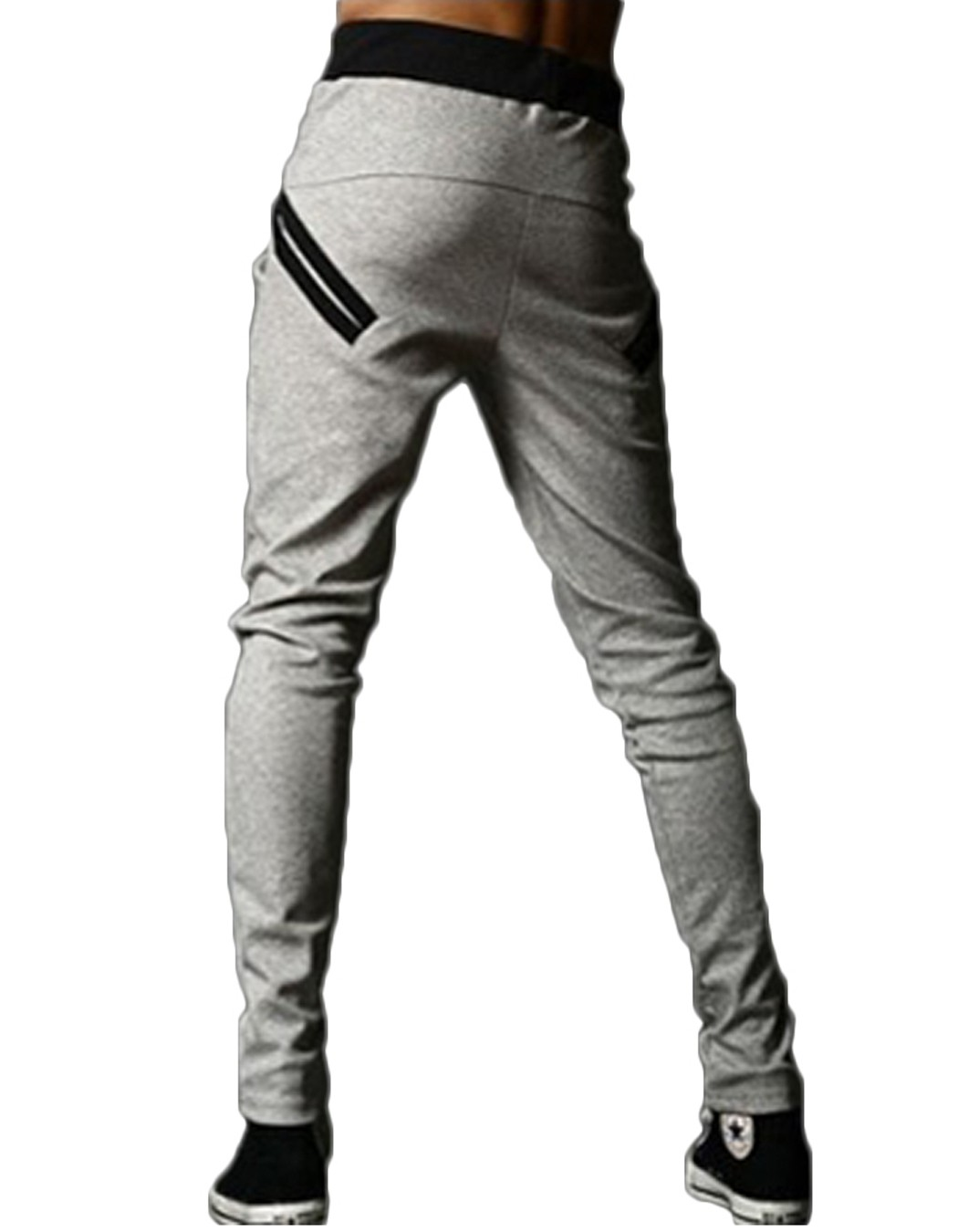 2016 Summer Fashion Men Cool Harem Trousers Skinny Zipper Pants Legging Straight Fit Men Cotton Sweat Pants