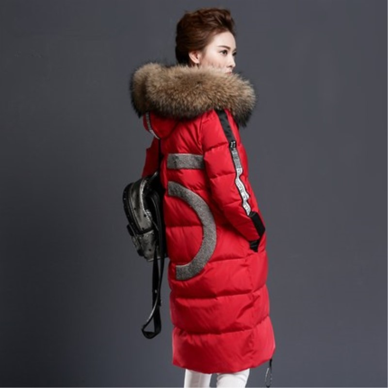 Winter Women' Medium-long Coat Female Thickening Over-the-knee Plus Size Large Fur Collar Outerwear 2017 korean version of the thickening of female workers in the long coat lambskin coat winter coat large size coat