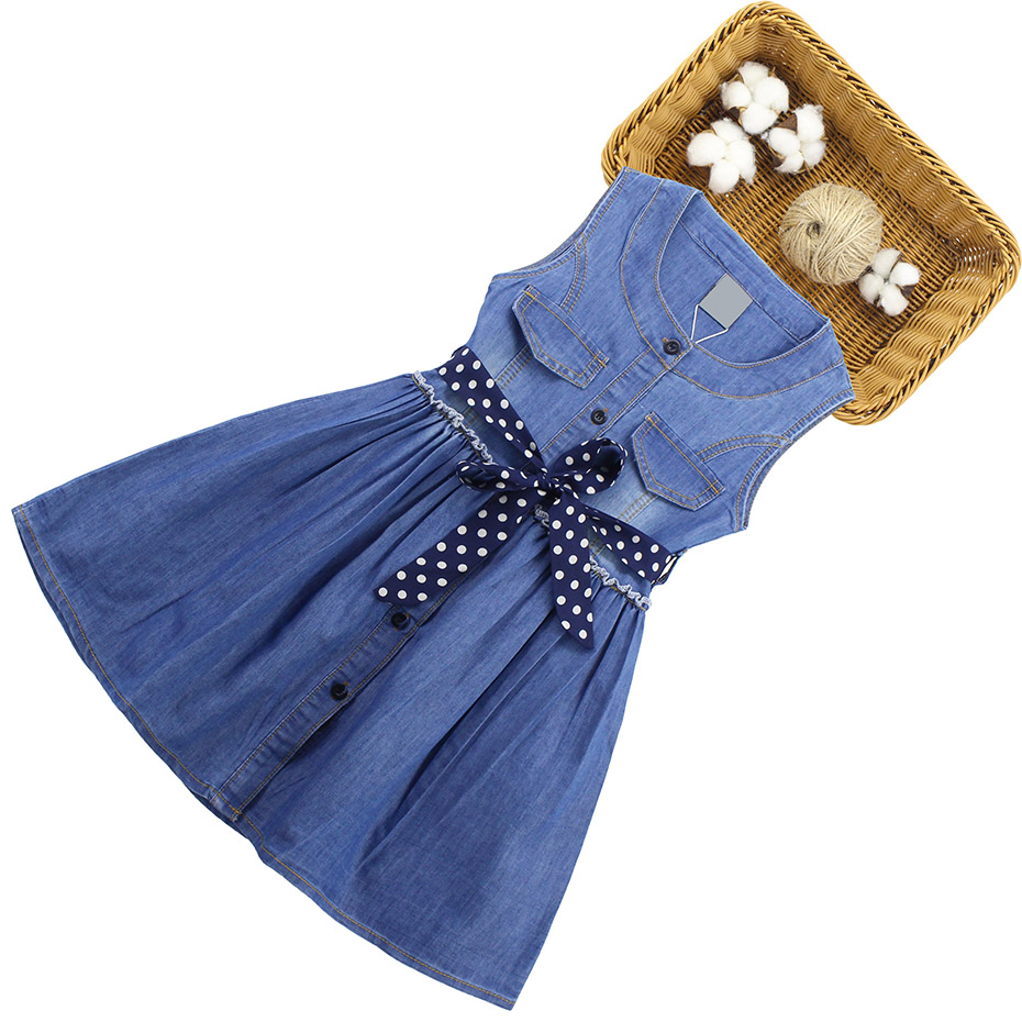 HTB1N1fQQQvoK1RjSZFNq6AxMVXa4 - Summer Dress For Girls Sleeveless Denim Dress Girl Big Girls Party Dress Kids Summer Clothes For Kids Girl 6 8 10 12 13 14 Year