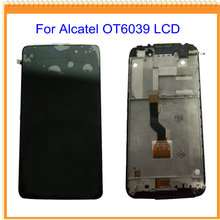 Para alcatel one touch idol 3 ot6039 6039 pantalla lcd display + touch pantalla digitalizador con marco negro envío gratis
