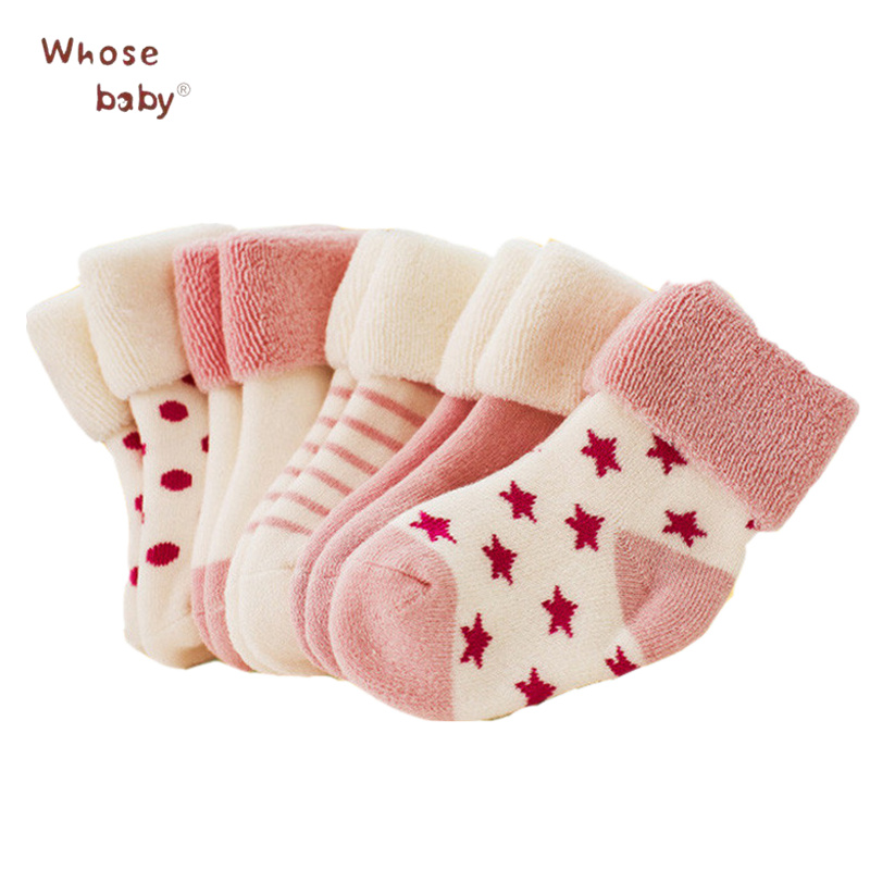 5 Pairs lot Newborn Baby Socks Warm Cute Baby Girls Boys