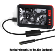 4.3 인치 고화질 1080P 디스플레이 화면 산업용 홈 내시경 8 조정 가능한 밝기 led 8mm 카메라 직경