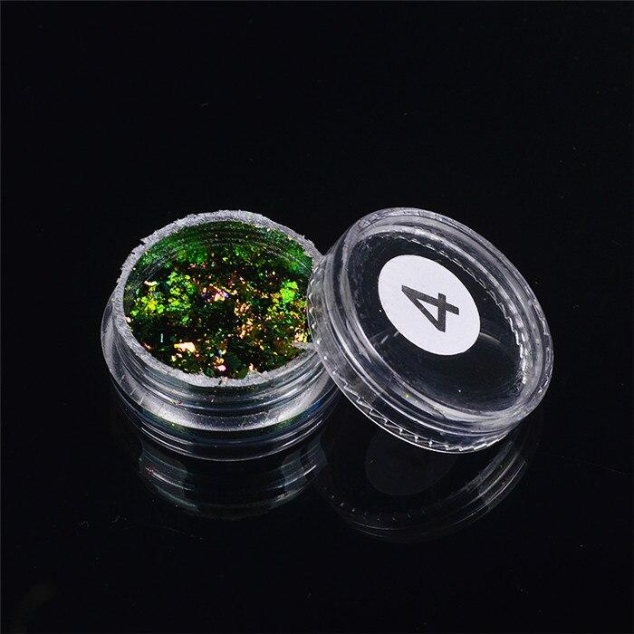 ZKO,, 1 коробка, хамелеон, блестки для ногтей, голографическая пудра, пыль, ослепительные ногти, дизайн ногтей, блестящие украшения - Цвет: 04