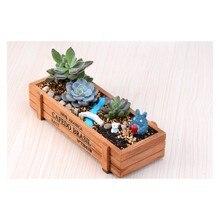 Коробка для растений мясистое украшение цветочный горшок контейнер винтажный деревянный квадратный контейнер для хранения отделка дома балкон офис сад Декор поставки