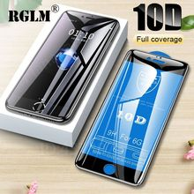 RGLM Full Cover 10D Protective Glass for iphone 6 6s 7 8 Plus Tempered Glass on iPhone X XS MAX XR Screen Protector Curved Edge цены