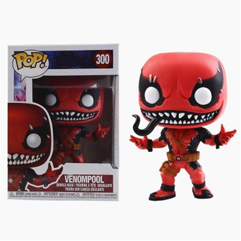 Funko pop official : Contest OF Champions - Venompool 300#Death Venom Deadpool Marvel Action Figure Model Collection цена