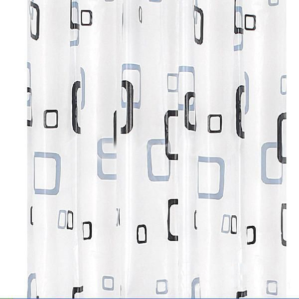 Practical 2015 Highly Commend Details about 180cm x 180 cm Black White Square Bathroom Waterproof Fabric Bath Shower Curtain