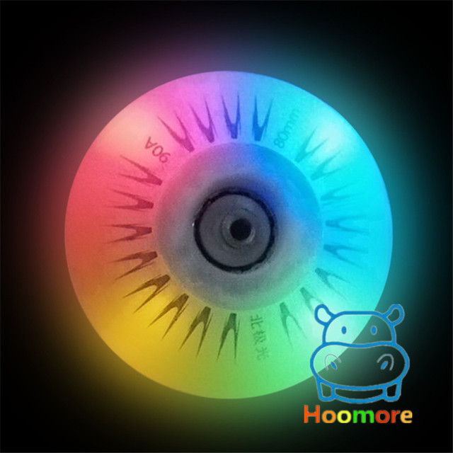 Free Shipping LED Flash Wheel 80mm 76mm 72mm 70mm 68mm 64mm for Inline Skates 90A for Adults Kids SEBA RB Roller Wheels 5
