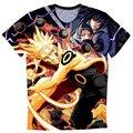New Fashion Summer Men's T Shirt Cartoon Sasuke Naruto War High Quality O Neck Man Camisetas S-4XL