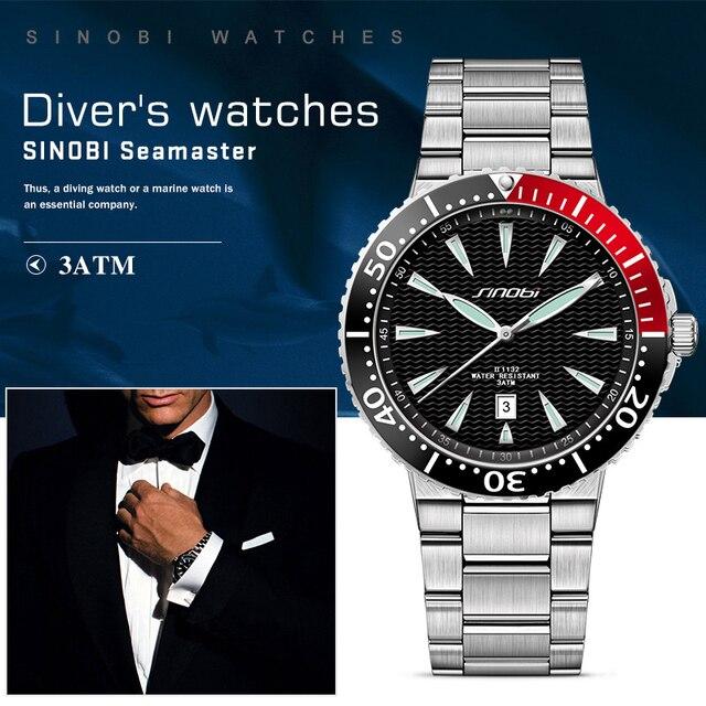 SINOBI Men Stainless Steel Watchband