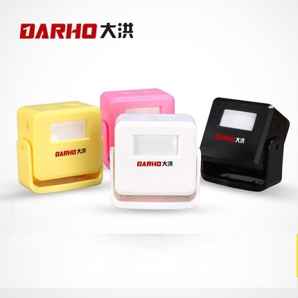 DARHO Welcome Chime Wireless Alarm Wireless Doorbell Welcome Chime Motion Sensor  Warning Doorbell 16Sons Musics Chime Alarm