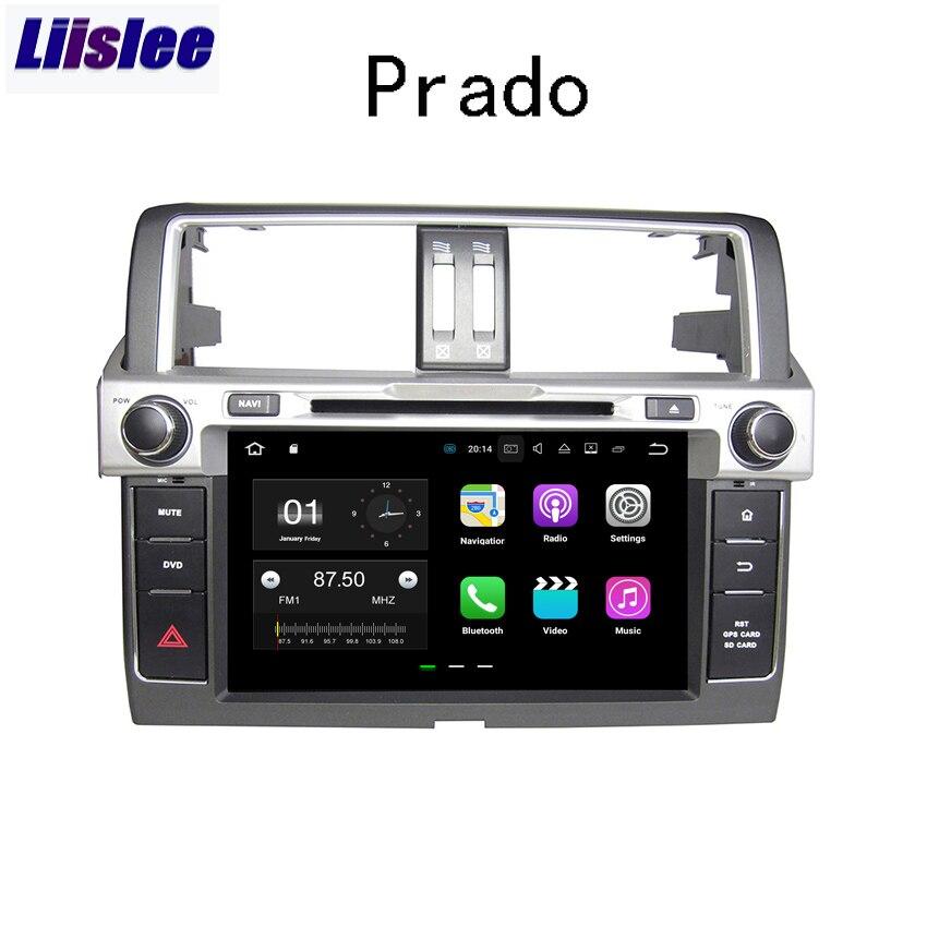 Liislee 2 din навигационная система для Android gps для Toyota Land Cruiser Prado J150 авто радио большие Экран стерео Мультимедийный Плеер
